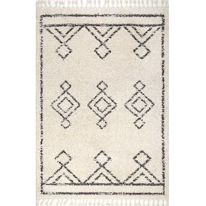 Mackie Moroccan Off White Rectangular: 6 Ft. 7 In. x 9 Ft. Rug