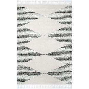 Bria Moroccan Off White Rectangular: 6 Ft. 7 In. x 9 Ft. Rug