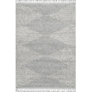 Bria Moroccan Gray Rectangular: 6 Ft. 7 In. x 9 Ft. Rug