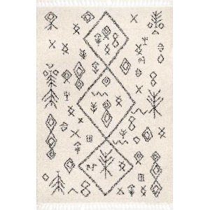 Kayla Moroccan Abstract Off White Rectangular: 7 Ft. 10 In. x 10 Ft. Rug