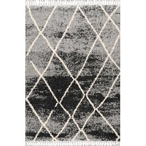 Shannon Moroccan Black Rectangular: 4 Ft. x 6 Ft. Rug