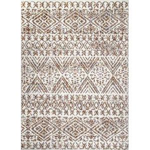 Tribal Roxanne Beige Rectangular: 7 Ft. 10 In. x 10 Ft. Rug