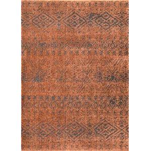 Tribal Roxanne Orange Rectangular: 5 Ft. 3 In. x 7 Ft. 7 In. Rug