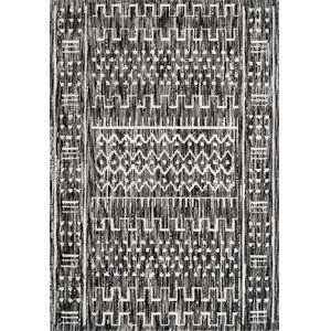 Tribal Della Gray Rectangular: 6 Ft. 7 In. x 9 Ft. Rug