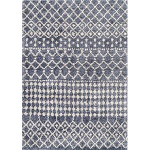Moroccan Barbara Gray Rectangular: 5 Ft. 3 In. x 7 Ft. 7 In. Rug