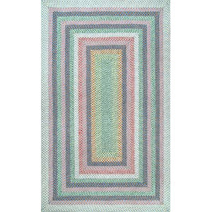 Braided Shay Pink Multicolor Rectangular: 7 Ft. 6 In. x 9 Ft. 6 In. Rug