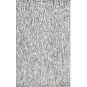 Braided Courtney Salt and Pepper Rectangular: 7 Ft. 6 In. x 9 Ft. 6 In. Rug
