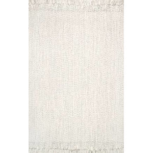 Braided Courtney Ivory Rectangular: 7 Ft. 6 In. x 9 Ft. 6 In. Rug