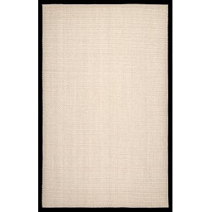 Natural Elaine Black Rectangular: 6 Ft. x 9 Ft. Rug