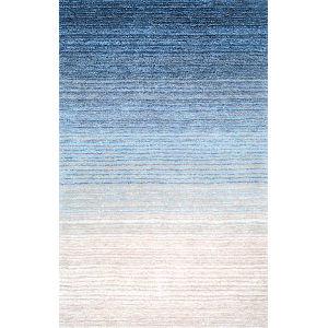Drey Ombre Blue Runner: 2 Ft. 6 In. x 8 Ft.