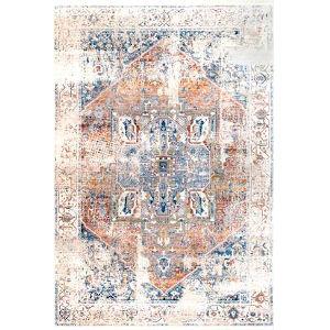 Ehtel Medallion Ivory Rectangular: 9 Ft. x 12 Ft. Rug