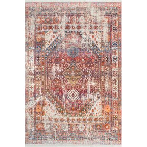 Farley Medallion Rust Square: 7 Ft. 10 In. Rug