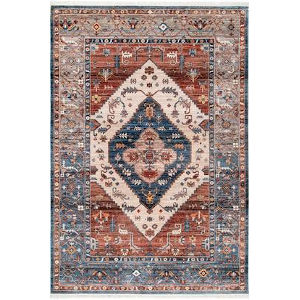 Vintage Mabel Tribal Rust Rectangular: 6 Ft. 7 In. x 9 Ft. 4 In. Rug