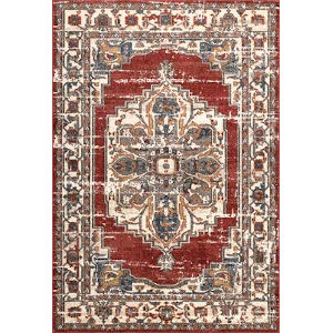 Lea Medallion Red Rectangular: 5 Ft. 3 In. x 7 Ft. 7 In. Rug