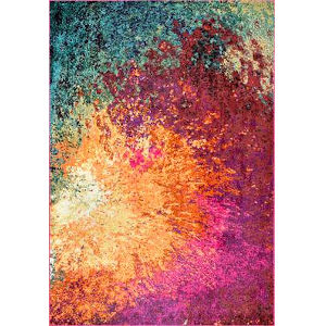 Donya Abstract Multicolor Rectangular: 6 Ft. 7 In. x 9 Ft. Rug