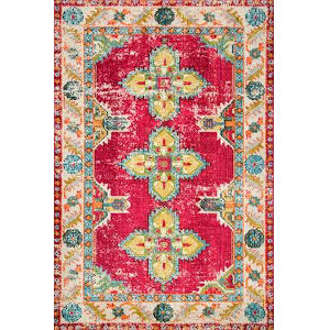 Vintage Karen Persian Pink Rectangular: 7 Ft. 10 In. x 11 Ft. Rug