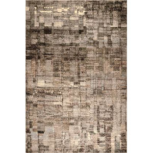 Abstract Lilly Brown Rectangular: 6 Ft. 7 In. x 9 Ft. Rug