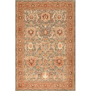 Persian Geraldine Olive Rectangular: 8 Ft. x 10 Ft. Rug