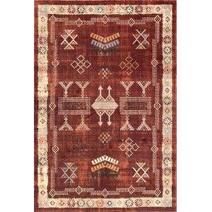 Tribal Edith Red Rectangular: 8 Ft. x 10 Ft. Rug