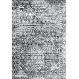 Moroccan Frances Gray Rectangular: 6 Ft. 7 In. x 9 Ft. Rug