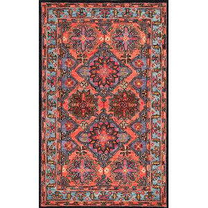 Yvonne Floral Rust Rectangular: 7 Ft. 6 In. x 9 Ft. 6 In. Rug