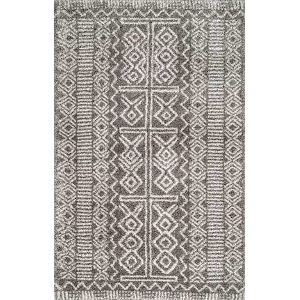 Hurley Tribalgy Dark Gray Rectangular: 9 Ft. x 12 Ft. Rug
