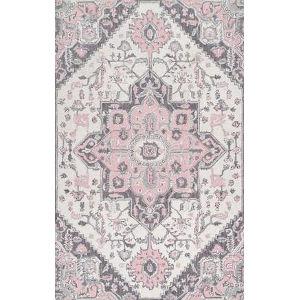 Dewitt Floral Pink Rectangular: 5 Ft. x 8 Ft. Rug