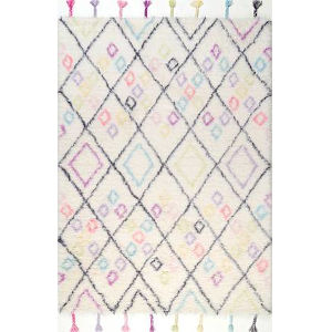 Moroccan Annice Off White Runner: 2 Ft. 6 In. x 8 Ft.