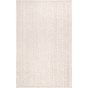 Natural Textured Suzanne Cream Rectangular: 5 Ft. x 8 Ft. Rug