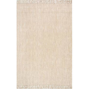 Don Jute with Natural Rectangular: 4 Ft. x 6 Ft. Rug