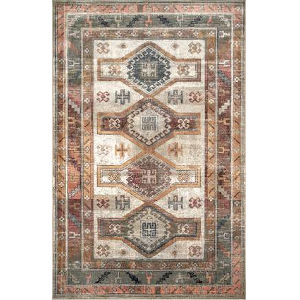 Monica Tribal Beige Rectangular: 7 Ft. 10 In. x 11 Ft. 2 In. Rug