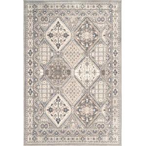 Vintage Tile Becca Gray Rectangular: 8 Ft. x 10 Ft. Rug