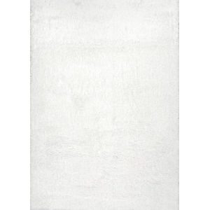 Gynel Cloudy Snow White Square: 7 Ft. 10 In. Rug