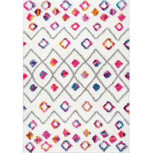 Tatyana Moroccan Trellisgy Pink Rectangular: 9 Ft. 2 In. x 12 Ft. Rug