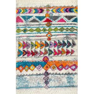 Melyssa Tribalgy Multicolor Rectangular: 6 Ft. 7 In. x 9 Ft. Rug