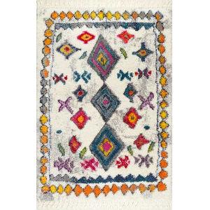 Lynda Moroccangy Multicolor Rectangular: 6 Ft. 7 In. x 9 Ft. Rug