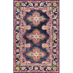 Artie Bohemian Navy Rectangular: 8 Ft. 6 In. x 11 Ft. 6 In. Rug