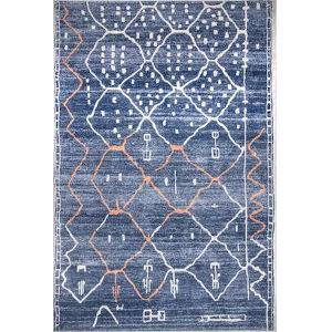 Missy Moroccan Blue Rectangular: 5 Ft. x 7 Ft. 5 In. Rug