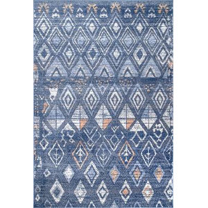 Marcella Trellis Blue Rectangular: 8 Ft. x 10 Ft. Rug