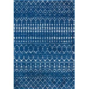 Moroccan Blythe Blue Rectangular: 6 Ft. 7 In. x 9 Ft. Rug