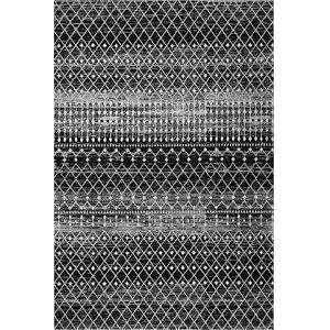 Moroccan Blythe Black Rectangular: 6 Ft. 7 In. x 9 Ft. Rug