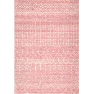 Moroccan Blythe Pink Rectangular: 6 Ft. 7 In. x 9 Ft. Rug