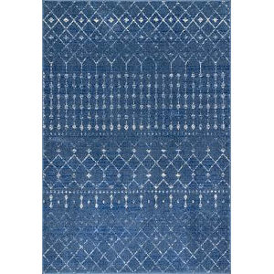 Moroccan Blythe Dark Blue Rectangular: 5 Ft. x 7 Ft. 5 In. Rug