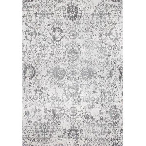 Floral Damask Rosemary Gray Square: 8 Ft. Rug