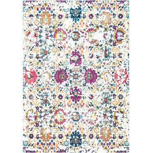 Floral Damask Rosemary Multicolor Rectangular: 3 Ft. x 5 Ft. Rug