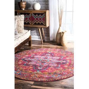 Fancy Persian Vonda Pink Round: 8 Ft. Rug