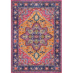 Fancy Persian Vonda Orange Square: 8 Ft. Rug