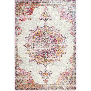 Vintage Medallion Leola Pink Square: 8 Ft. Rug