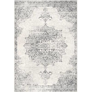 Vintage Medallion Leola Gray Rectangular: 6 Ft. 7 In. x 9 Ft. Rug