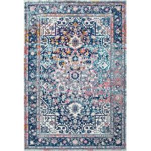 Persian Vintage Raylene Blue Square: 8 Ft. Rug